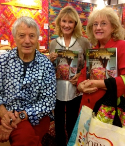 Nannette and I with Kaffe Fassett and his new book, QUILT GRANDEUR.