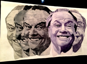 Yes, Jack Nicholson.  The artist said she was studying expression and emotions.