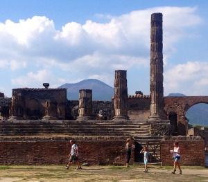 Pompeii with Mt. Vesuvius