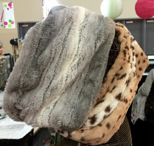 Faux Fur Infinity Scarves