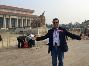 Birthday Boy in Tiananmen Square