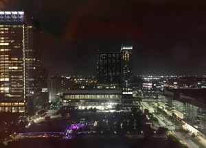 Night view from the Hilton